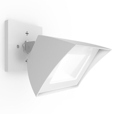 Endurance Flood Light Energy Star Outdoor/Indoor Wall Pack 35W 5000K Bronze Finish: Architectural White