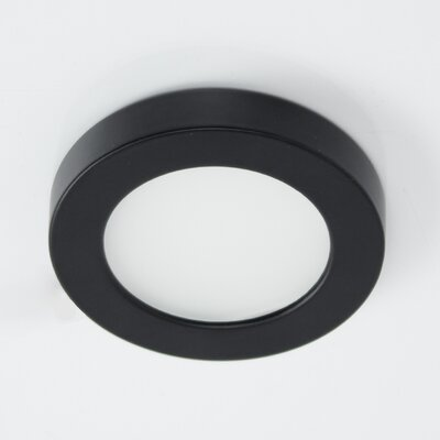 Edge Lit Energy Star Undercabinet Button LED Recessed Light Kit Finish: Black