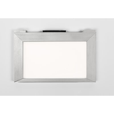 LED Under Cabinet Bar Light Finish: Brushed Aluminum, Size: 4.56 H x 24.75 W x 0.5 D