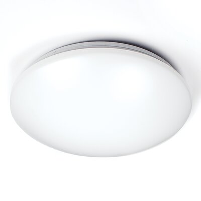 Candelaria LED White Ceiling/Wall Mount 3500K Size: 1 H x 16.5 W x 4.5 D