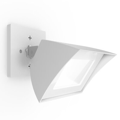 Endurance Flood Light Energy Star Outdoor/Indoor Wall Pack 35W 3000K e Finish: Architectural White