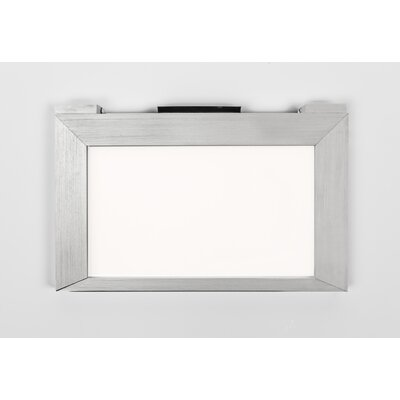 LED Under Cabinet Bar Light Finish: Brushed Aluminum, Size: 4.56 H x 6.94 W x 0.5 D