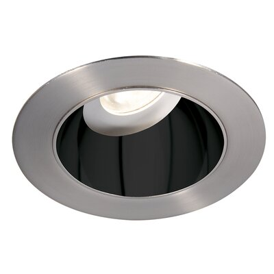 Tesla 3.5 Recessed Trim Finish: Specular Black/Brushed Nickel