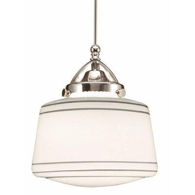 Plymouth 1-Light LED Schoolhouse Pendant Finish: Dark Bronze