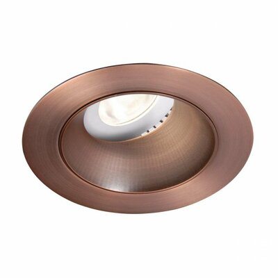 Downlight Adjustable Open Round 3.5 LED Recessed Trim Bulb: 3000K, Finish: Copper Bronze