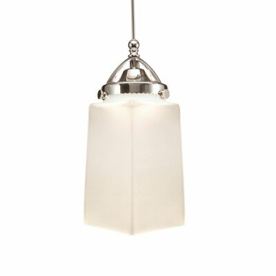 Huntington 1-Light Mini Pendant Finish: Brushed Nickel, Shade Color: White