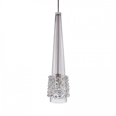 Kalysta 1-Light Mini Pendant Finish: Chrome, Shade Color: White Diamond (Clear)