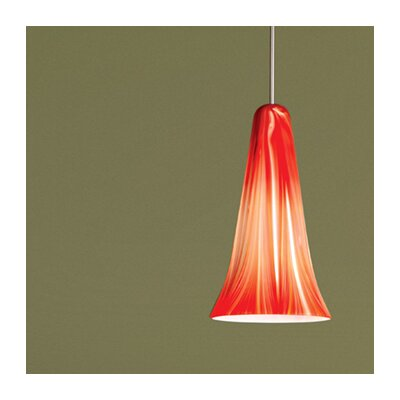 Zanzibar 1-Light Quickconnect Mini Pendant Finish: Dark Bronze, Shade Color: Saffron