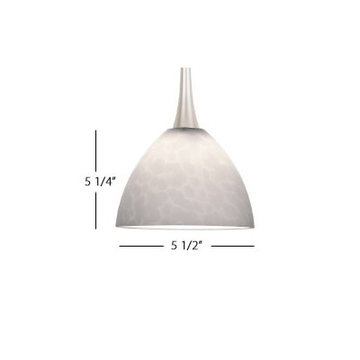 Feberge LED Pendant Finish: Brushed Nickel, Shade Color: White