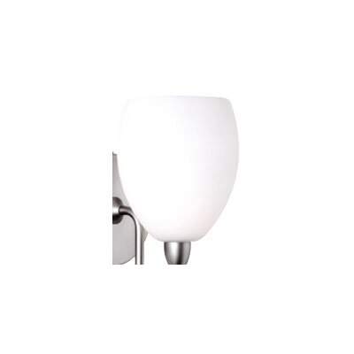Contemporary 4.5 Glass Bowl Wall Sconce Shade Color: White