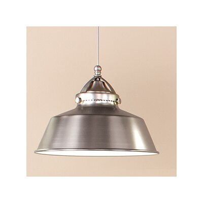Wyandotte 1-Light Inverted Pendant Finish: Dark Bronze, Shade Color: Brushed Nickel