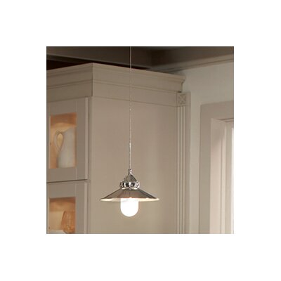 Randles Monopoint 1-Light Mini Pendant Finish: Brushed Nickel, Shade Color: Antique Bronze