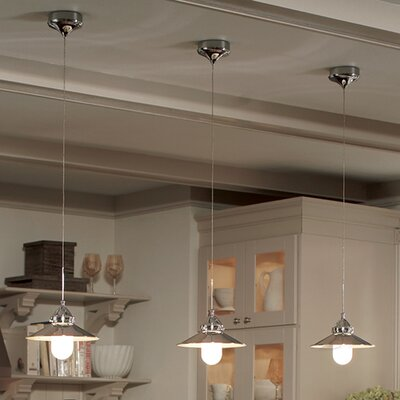 Randles Quick Connect 1-Light Pendant Finish: Brushed Nickel, Shade Color: Brushed Nickel