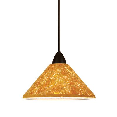 Artisan 1-Light Micha Track Pendant Track Type: Halo Series, Shade Color: Multi Red, Finish: Dark Bronze