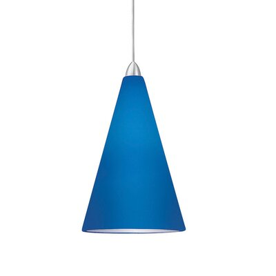 Contemporary April Mini Pendant Finish: Dark Bronze, Shade Color: Blue