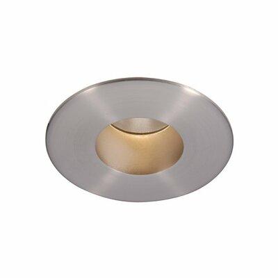 Downlight Adjustable Round 2 LED Recessed Trim Finish: Brushed Nickel, Bulb: 3000K