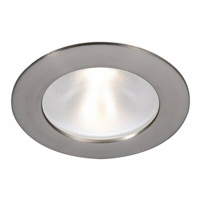 Tesla Recessed Downlight Finish: Brushed Nickel, Bulb Color: Cool White