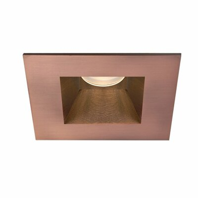 Tesla Square Shower 28 Degree Angle 2.88 Recessed Trim Finish: Copper Bronze
