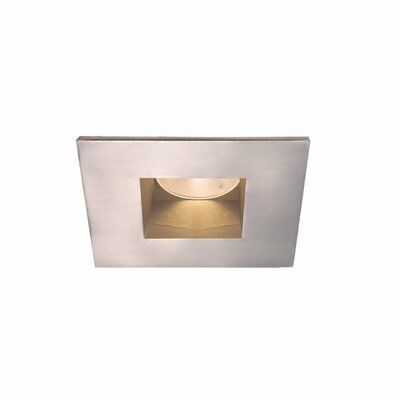 Tesla 3000K Open Square 2 LED Recessed Trim Finish: Brushed Nickel