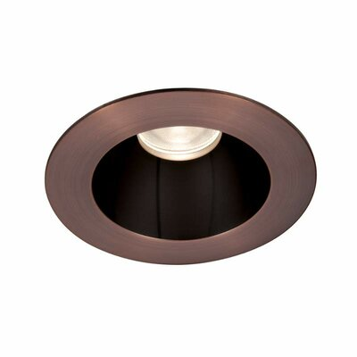Tesla 3.5 LED Recessed Trim Finish: Specular Black/Copper Bronze