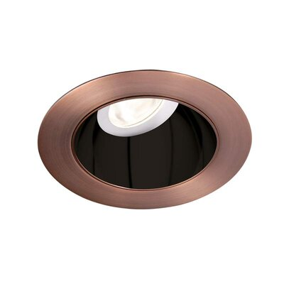 Tesla 3.5 Recessed Trim Finish: Specular Black/Copper Bronze