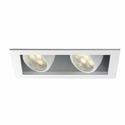 LEDme� 4500K 2-Light LED Recessed Multi-Spotlight Lens Degree: Flood
