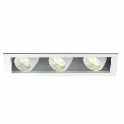 LEDme� 3500K 3-Light LED Recessed Multi-Spotlight Lens Degree: Flood