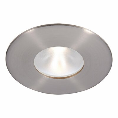 Tesla Recessed Downlight Finish: Brushed Nickel, Bulb Color: Cool White, Beam Angle: 53 Degree