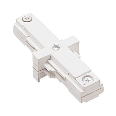 Two Circuit Straight Line I Track Connector with Dead End for Juno Series Color: White
