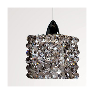 Gia 3 Glass Drum Pendant Shade Shade Color: Black Ice