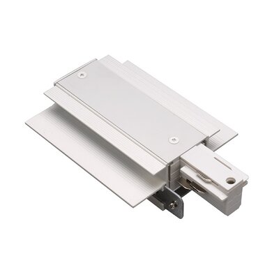 Recessed Live End Connector W Track Finish: White