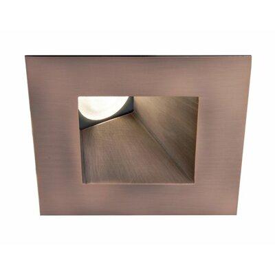 Tesla Adjustable 3000K Square 2.9 LED Recessed Trim Finish: Copper Bronze