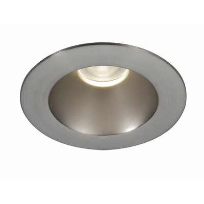 Tesla Open Round 3.5 LED Recessed Trim Finish: Brushed Nickel