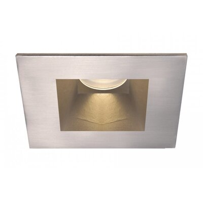 Tesla Wallwasher Square 2.9 LED Recessed Trim Finish: Brushed Nickel