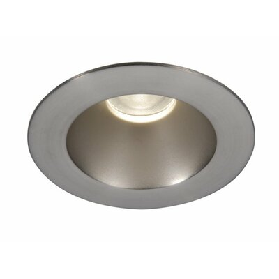 Tesla Open Round 3.5 LED Recessed Trim Finish: Semi-Specular Clear/Brushed Nickel
