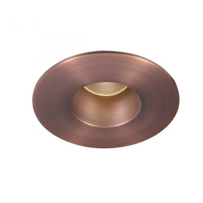 Downlight Open Round 2 LED Recessed Trim Bulb: 4000K, Finish: Copper Bronze