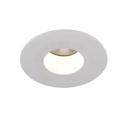 Downlight Adjustable Round 15 Degree Beam Angle 2 LED Recessed Trim Bulb: 4000K, Finish: White