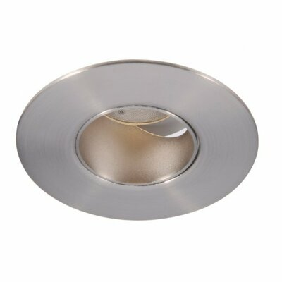 Downlight Round 2 LED Recessed Trim with 45 Degree Beam Angle Finish: Brushed Nickel, Bulb: 3000K