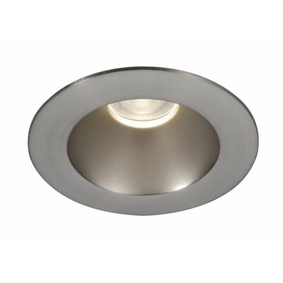 Tesla 3500K Open Round 3.5 LED Recessed trim Finish: Semi-Specular Clear/Brushed Nickel