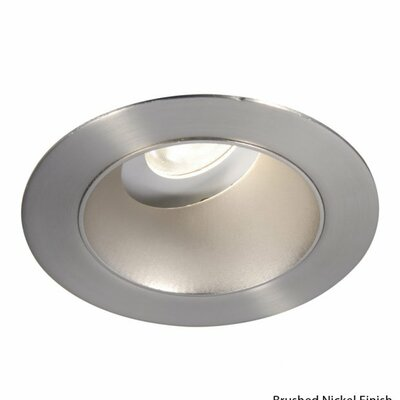 Downlight Adjustable Open Round 3.5 LED Recessed Trim Finish: Brushed Nickel, Bulb: 3000K