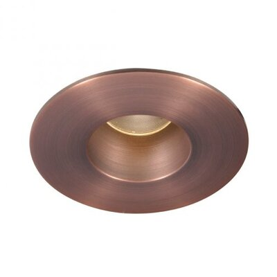Downlight Open Round 2 Recessed Trim LED with 26 Degree Beam Angle Bulb: 4000K, Finish: Copper Bronze