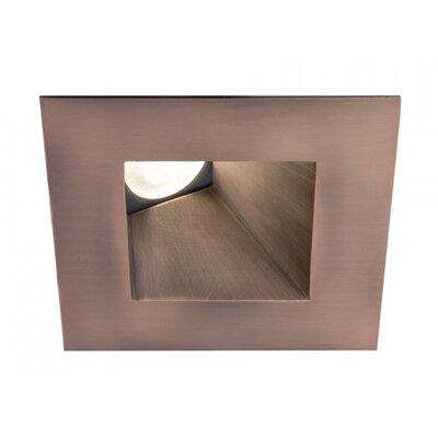 Tesla Square Adjustable 50 Degree Angle 3000K 2.88 LED Recessed Trim Finish: Copper Bronze