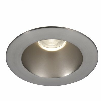 Downlight Open Round 3.5 LED Recessed Trim with 15 Degree Beam Angle Finish: Brushed Nickel, Bulb: 3000K