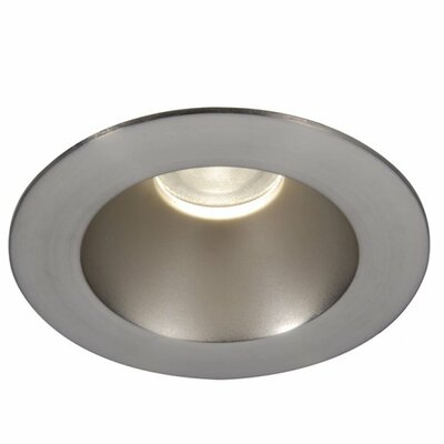 Downlight Open Round 3.5 LED Recessed Trim Finish: Brushed Nickel, Bulb: 3000K