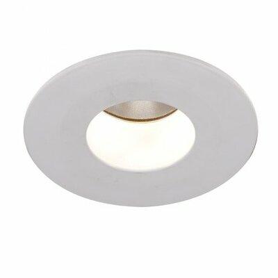 Downlight Open Round 2 LED Recessed Trim Bulb: 4000K, Finish: White