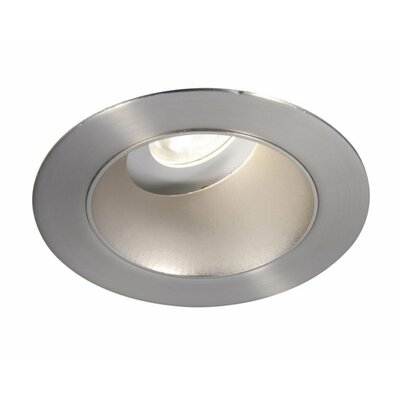 Tesla Adjustable Round 3.5 Recessed Trim Finish: Specular Black/Brushed Nickel