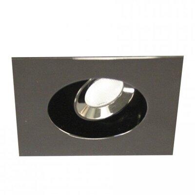 Miniature Downlight Adjustable Square 1.63 LED Recessed Trim Finish: Gun Metal, Bulb: 3000K
