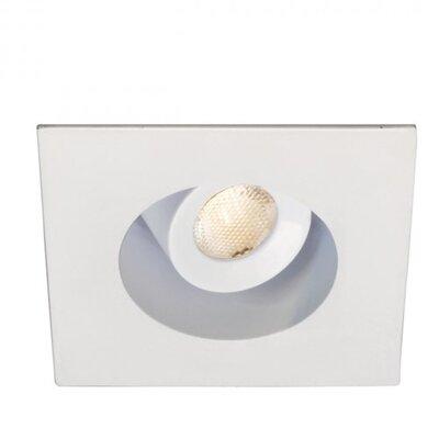 Miniature Downlight Adjustable Square 1.63 LED Recessed Trim Bulb: 4500K, Finish: White