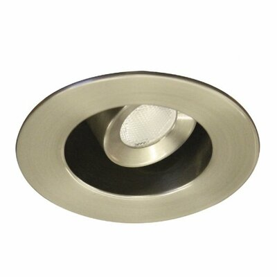Miniature Downlight Adjustable Round 1.63 LED Recessed Trim Finish: Brushed Nickel, Bulb: 4500K