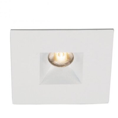 Miniature Downlight Open Reflector Square 1.25 LED Recessed Trim Bulb: 4500K, Finish: White